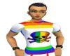 Rainbow skull top