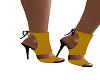 Mustard /Black  heels