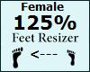 Feet Scaler 125% Female
