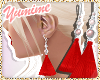 [Y] Red Tassel Earrings