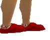F|Red Uggs Slides