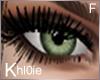 K Green eyes F
