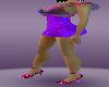 cool purple heel shoes