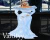 Blue/Fur  Christmas Gown