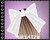 B! White Large Bow