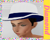 ~M~WIN BLUE/WHITE HAT