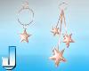 Pastel Stars Peach Earri