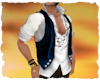 Pirate frill shirt vest
