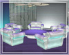 WHITE COUCHES SET