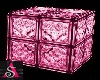 Glass Blocks Cube Pink