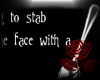 Face Stab with Spoon