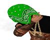 GREEN BANDANA HEAD TOWEL