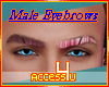 ! Red Glow Male Brows
