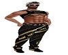 blacj gold king pants