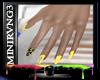 D|Yellow gold Cross nail