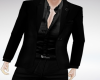 suit top black silk