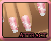 Attract| Pink Nails
