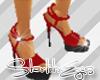 Red/Black X-High Heels