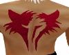 Crimson Fang Back Tattoo