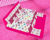 hot pink lv poseless bed