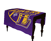 La Lakers Memorial table