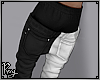 Black/White Sagged Jeans