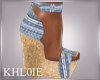 K boho chic heels