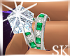 :SK:Diamond Emerald Ring