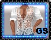 """GS"" MUSCLE SHIRT WHITE"