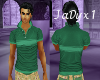 Sage Striped Polo Shirt