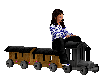 wooden train action