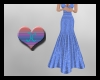 ~JC Lt Blue Sparkle Gown