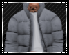 Grey Padded Coat