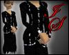 Sleek Zebra Piping Dress