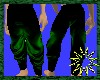 Black green pvc karate