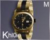 K nik gold blk watch M