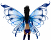 animated blue fairy wing