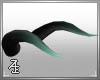 Black/AquaGreen Horns