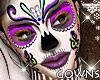 Skull Makeup Head