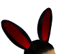 red black bunny  ears