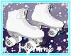 (K) White Roller Skates