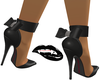 DarkGray Bow Pumps