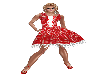 Red Checked 50s Dress