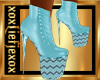 [L] Chic Baby Blue Boots