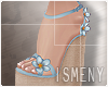 [Is] Wedges Sandals Blue