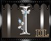 silver letter I