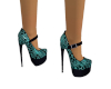 Teal Enchantment Heels
