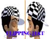 [Z]Black Checkeres Hat