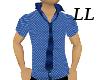 LL: Blue Tie Shirt