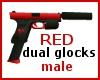 Red Dual Glocks (M)